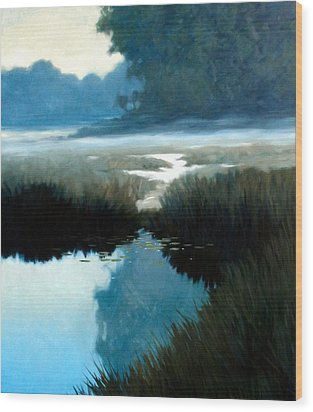 Lifting Fog Wood Print by Kevin Lawrence Leveque