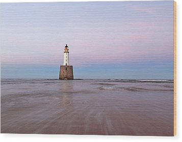 Wood Print featuring the photograph Lighthouse Sunset by Grant Glendinning