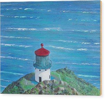 Lighthouse Wood Print by Tony Rodriguez