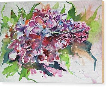 Lilac Wood Print by Kovacs Anna Brigitta