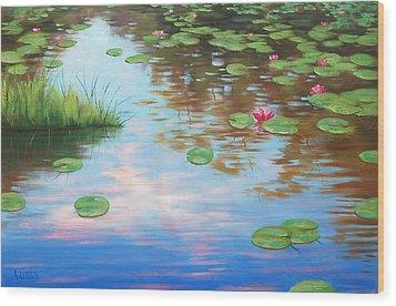 Lily Pond Wood Print by Graham Gercken