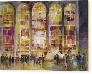 Lincoln Center Wood Print by Dorrie Rifkin