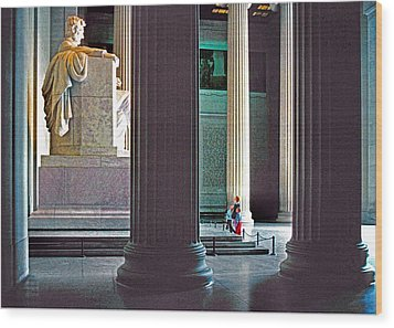 Lincoln Memorial Wood Print by Dennis Cox