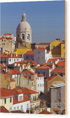 Lisbon View Wood Print by Carlos Caetano