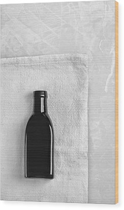 Wood Print featuring the photograph Little Black Bottle  by Andrey  Godyaykin