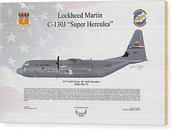 Lockheed Martin C-130j-30 Super Hercules Wood Print by Arthur Eggers