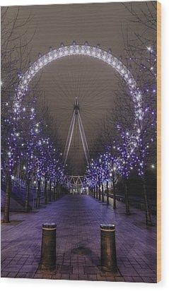 London Eye Wood Print by Lee-Anne Rafferty-Evans