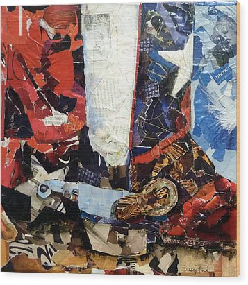 Lone Star Boot Wood Print by Suzy Pal Powell