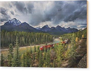 Long Train Running Wood Print by John Poon