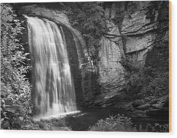Wood Print featuring the photograph Looking Glass Falls by Howard Salmon