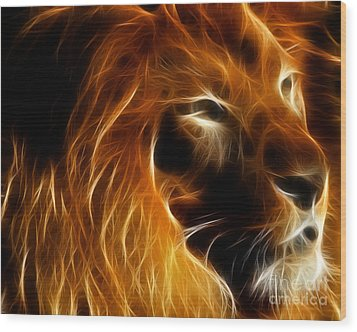 Lord Of The Jungle Wood Print by Wingsdomain Art and Photography
