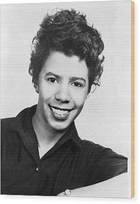 Lorraine Hansberry 1930-1965 African Wood Print by Everett