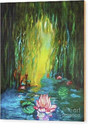 Lotus And Lily Pads Wood Print