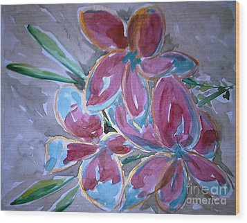Love Flowers Wood Print by Baljit Chadha