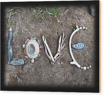 Love Wood Print by Tanielle Childers