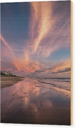 Wood Print featuring the photograph Low Tide Mirror by Debra and Dave Vanderlaan