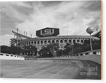 Lsu Tiger Stadium Wood Print by Scott Pellegrin