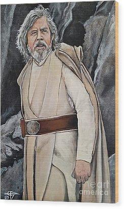 Luke Skywalker Wood Print by Tom Carlton