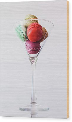 Macarons Wood Print by Happy Home Artistry