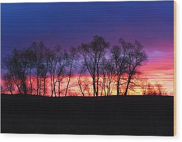 Magical Sunrise Wood Print