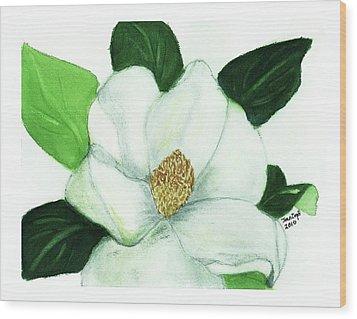 Magnolia II Wood Print by Joan Zepf