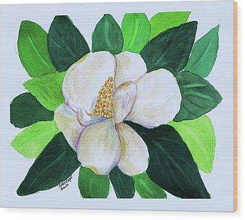 Magnolia IIi Wood Print by Joan Zepf