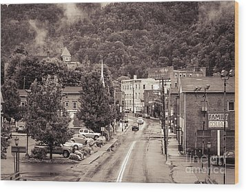 Wood Print featuring the photograph Main Street Webster Springs by Thomas R Fletcher