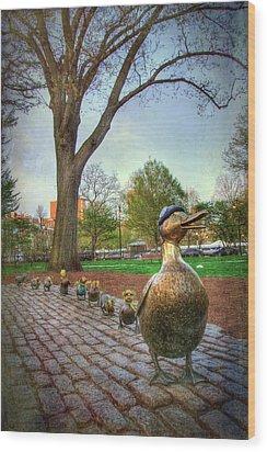 Make Way For Ducklings - Boston Wood Print by Joann Vitali