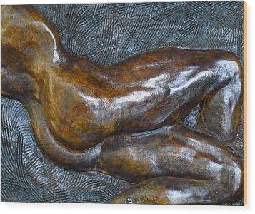 Male Dancer In Repose Wood Print by Dan Earle