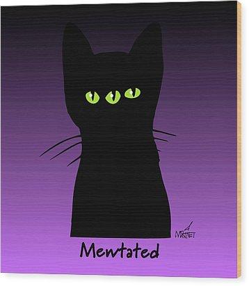 Mewtated Wood Print