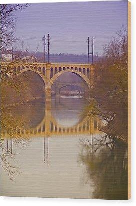 Manayunk Bridge Wood Print by Bill Cannon
