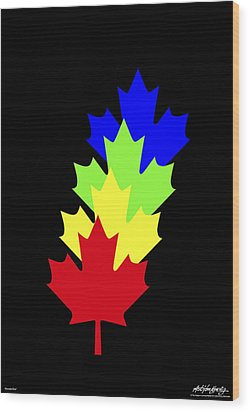 Maple Leaves Wood Print by Asbjorn Lonvig