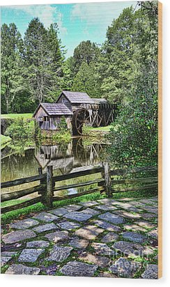 Marby Mill Pathway Wood Print by Paul Ward