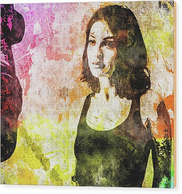 Maria Valverde Wood Print by Svelby Art