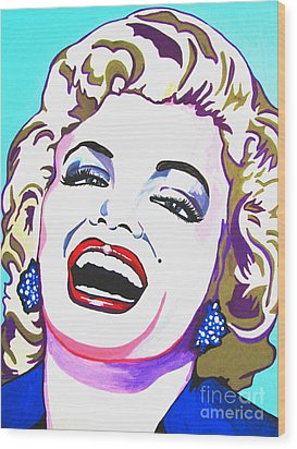 Marilyn Wood Print by Colleen Kammerer