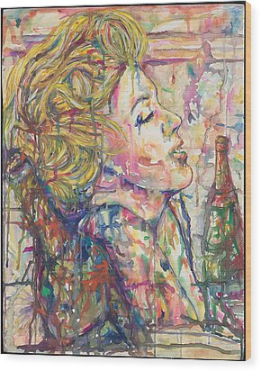 Marilyn's Medicine Wood Print by Joseph Lawrence Vasile