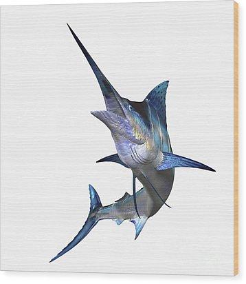 Marlin Wood Print by Corey Ford