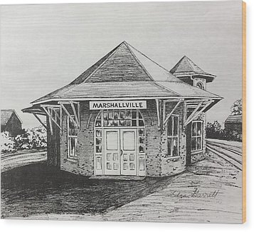 Marshallville Depot Wood Print
