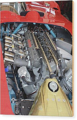 Maserati Engine Wood Print