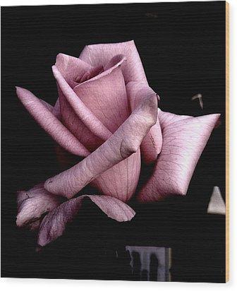 Mauve Flower Wood Print by Mohammed Nasir