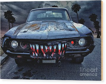 Mean Streets Of Belmont Heights Wood Print by Bob Winberry