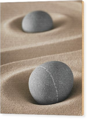 Wood Print featuring the photograph Meditation Stones by Dirk Ercken