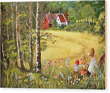 Memories For Mom Wood Print by Marilyn Smith