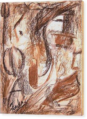 Mental Fiction II Wood Print by Fareeha Khawaja