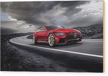 Mercedes A M G   G T Wood Print by Movie Poster Prints