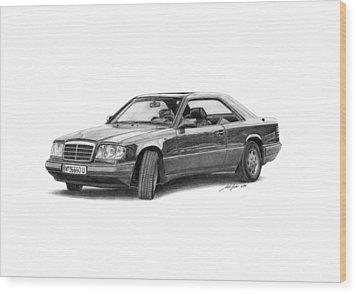 Mercedes-benz E-class Coupe Wood Print by Gabor Vida