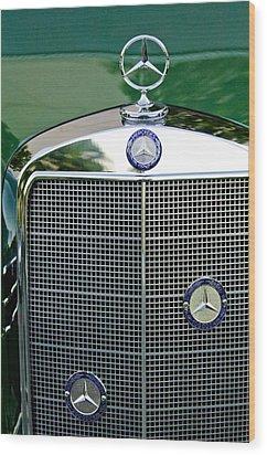 Mercedes Benz Hood Ornament Wood Print by Jill Reger