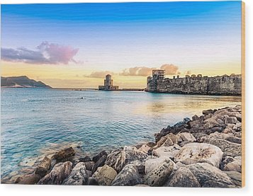 Methoni's Castle / Greece. Wood Print by Stavros Argyropoulos