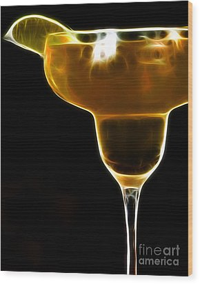 Mexico Gold . Lime Margarita Wood Print by Wingsdomain Art and Photography