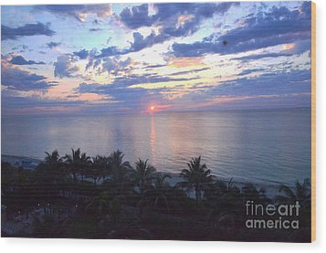 Miami Sunrise Wood Print